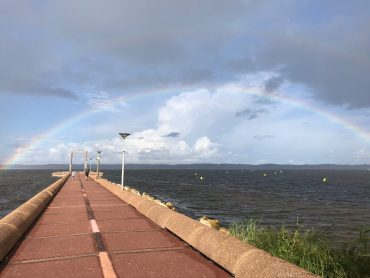 Rainbow at Hourtin lake