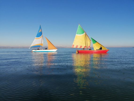 boats on the venice lagoon