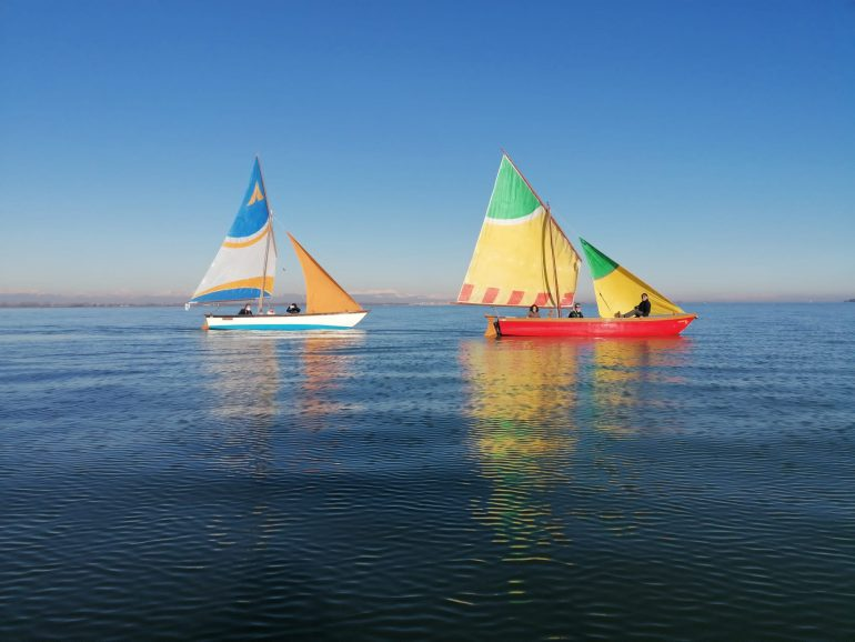 boats on the venice lagoon