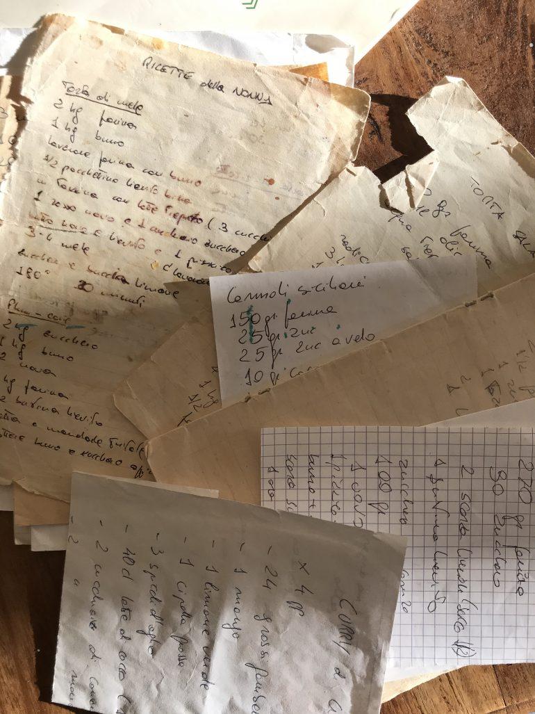 old handwritten recipes